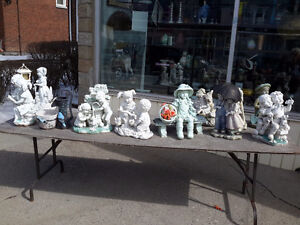 LARGE LOT OF OUTDOOR GARDEN STATUES $12.00 EACH