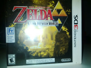 Zelda a link between worlds 3 DS game