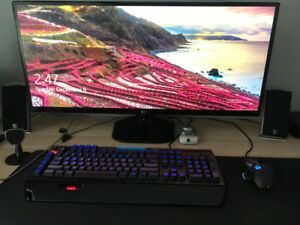 "Gaming PC: i5 8400, GTX 1080, 34"" Monitor, Logitech G910 + G502"
