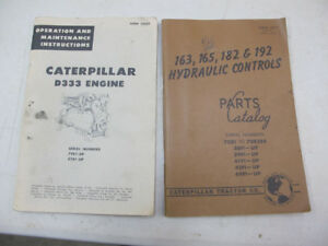 Vintage Caterpillar D333 Engine & Hydraulic Controls Manuals