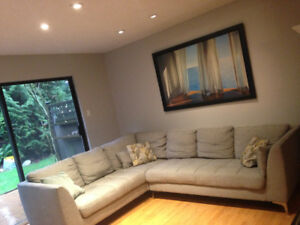 Light grey sectional sofa