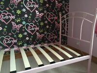 Price dropped on Pink Single Metal Bed Frame. Need away ASAP to clear flat.