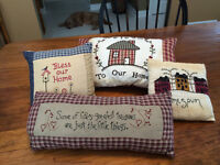 HOME DECOR ITEMS ,INCLUDING PRIMITIVE ITEMS AND HAND MADE THROWS