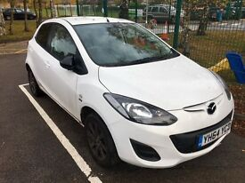 Mazda 2 Sport Colour Edition car in White-2014(64) very low mileage, only 7,885 miles