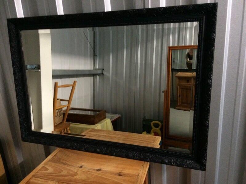 Large black framed mirror in east malling kent gumtree for Large black framed mirror