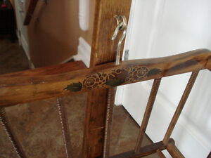 Vintage Wooden Rocking Cradle. London Ontario image 2