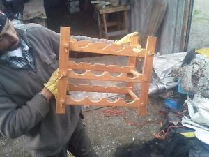 CUSTOM WOODEN WINERACK ALSO MANY GUNRACKS FROM WOOD