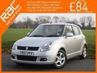 2007 Suzuki Swift 1.5 VVTS GLX 5 Door 5 Speed Air Conditioning Keyless Drive All