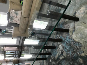 Coffee Table- Modern with a glass surface