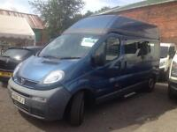 Vauxhall Vivaro lwb high roof minibus with wheel chair ramp Only 70000 miles