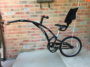 Trail-A-Bike with back seat and upgraded seat