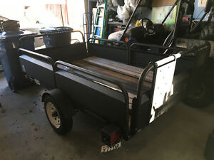 Snowbear tilting trailer with spare tire 12 inch