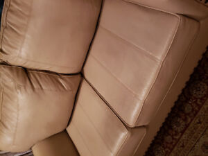 2 piece sofa leather look