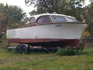 1957 Chris Craft wooden boat, winter project  London Ontario image 1