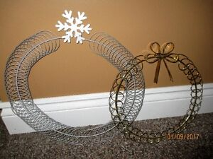 2 craft wreaths - $5 for the Pair