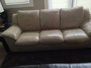 Leather couch, loveseat & recliner