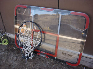 Back board and hoop with net