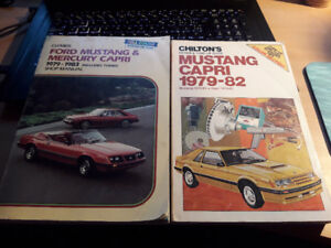 1979-1983 Ford Mustang and Mercury Capri Clymer and Chilton Repa
