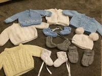 Hand knitted baby bundle