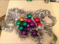 Baubles and tinsel for christmas