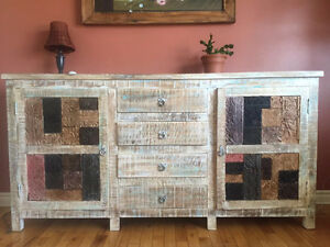 beautiful mango wood wiker emporium cabinet chest