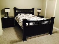 Queen Black bedroom set