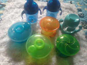 Sippy cups snack containers and formula dispenser
