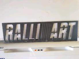 Ralliart Mitsubishi Steel Sign Stencil metal art evo colt