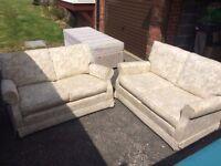 Set of 2 Two Seater Sofas
