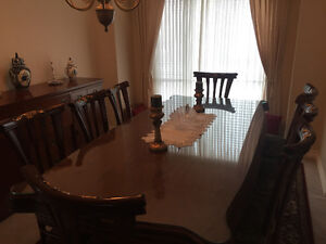 Beautiful Egyptian style dinning table and sets for sale!