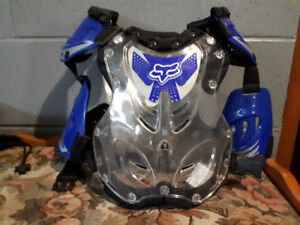 Like New-Youth Motocross Helmet and Chest Protector