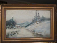 Antique listed Canadian artist Reginal T.Selfe oil painting
