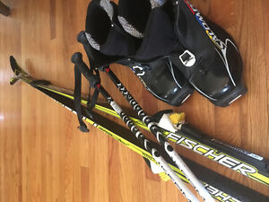 Cross Country Skis, Boots, and Poles for kids.