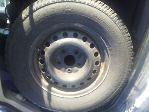 Winter tires with steel rims 225/70R16