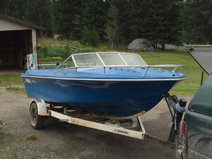 Boat and trailer for sale or trade for ice fishing snowmobile