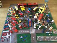 Car mat and cars