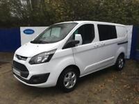 2016 66 Ford Transit Custom 2.0TDCi 290 Crew Cab Limited 130 Diesel Van