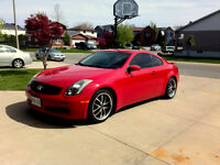 2005 Infiniti G35 Coupe Red