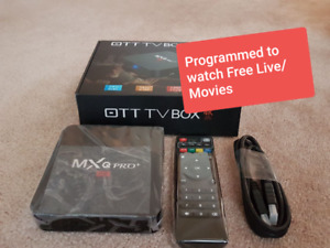 Android TV BOX Watch Free Live TV MOVIES channel NO MONTHLY COST
