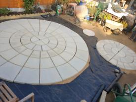 NEW 3.46M ROTUNDA Patio Stone circle Riven Buff (has imperfections)