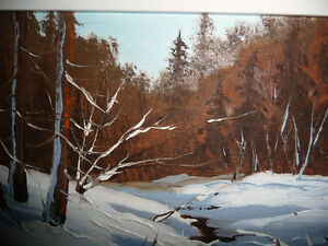 "Listed,Heinz V. Pundleider ""Creek In Merivale"" Original Oil 1978 Stratford Kitchener Area image 10"