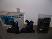 NEW:CCM In Lines skates (size 8 (ladies) / 6 (men)) +accessories
