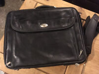 Antler leather laptop bag