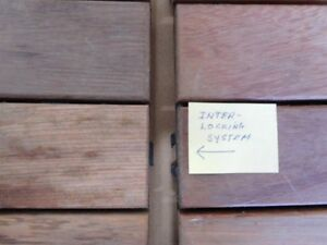 Inter-locking wood tiles