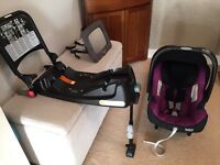 Britax SHR II Car Seat and ISOFIX Base (with rear view mirror)