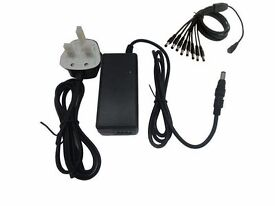 CCTV DVR POWER SUPPLY FOR 4 CAMERAS 5000MA (5AMP) 12V DC POWER SUPPLY WITH 4 WAY SPIDER LEAD