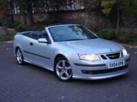 EXCELLENT RARE MODEL!!! 2004 SAAB 9-3 2.0 T AERO 210 2dr AUTO CONVERTIBLE, 1 YEAR MOT, AA WARRANTY