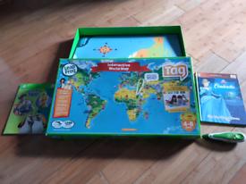 Leapfrog Tag Pen, 2 books & Interactive World Map