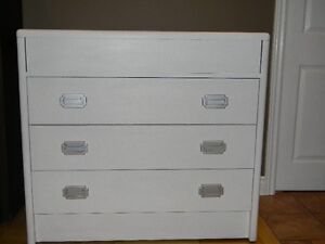 Three Drawer White Dresser