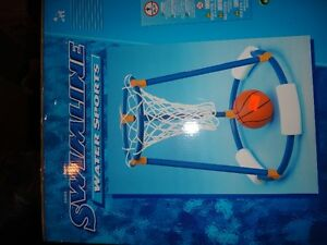 Swimline floating water basket ball set brand new in box